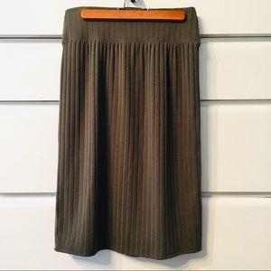 Sweater Material Apt. 9 Military Green Skirt